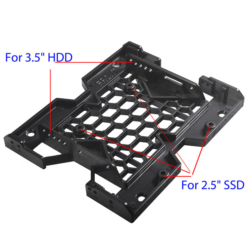 2.5 / 3.5 to 5.25 Drive Bay Computer Case Adapter HDD Mounting Bracket SSD