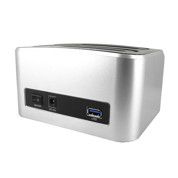 axGear USB 3.0 SATA Hard Drive Docking HDD Backup Clone Dual Dock External Card Reader USB HUB