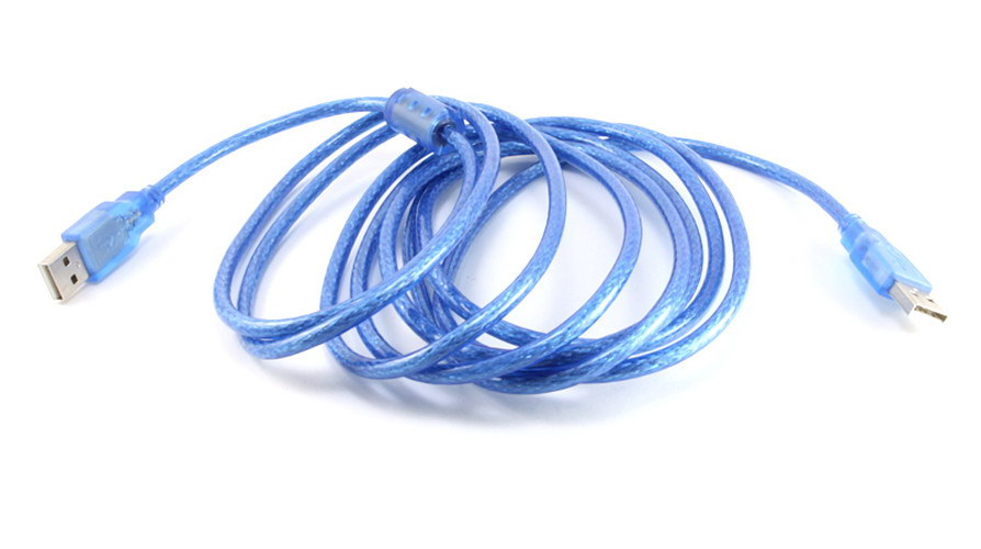 USB 2.0 AA MM Male to Male 3m 10f ft feet Sync Data Cable Cord Blue