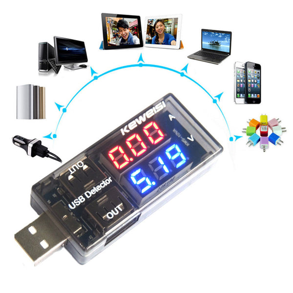 axGear USB Power Tester Charger Voltage Current Meter