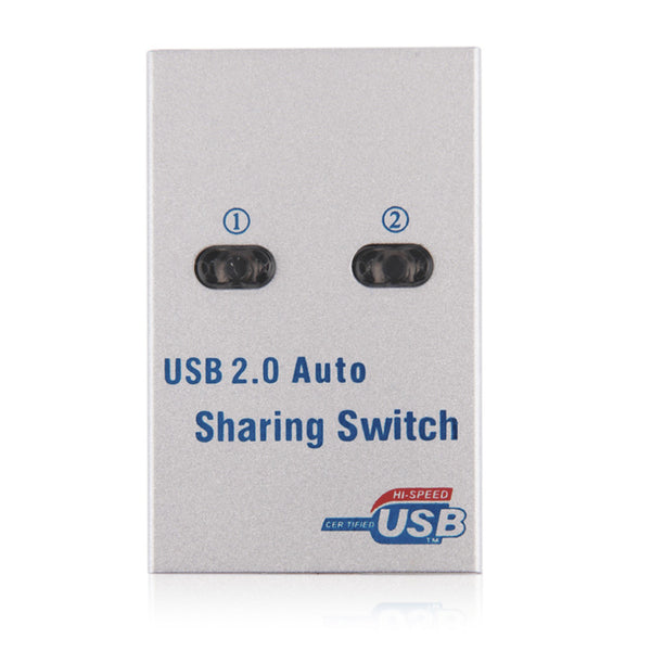 2 Port USB2.0 Auto Sharing Switch Hub For Printer Scanner Keyboard Mouse