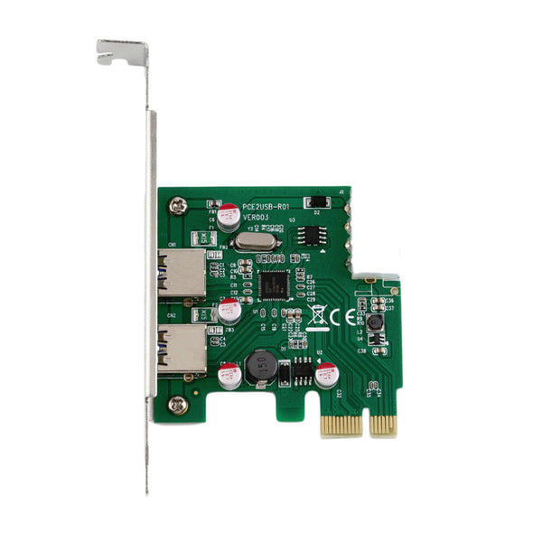 axGear USB 3.0 PCI-E Card 2 Port Hub PCIE Express Controller Adapter Card 5Gbps High Speed