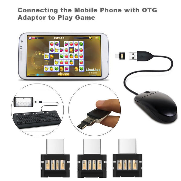 USB-C 3.1 Male to USB Female OTG Adapter Converter For Tablet Android Phone