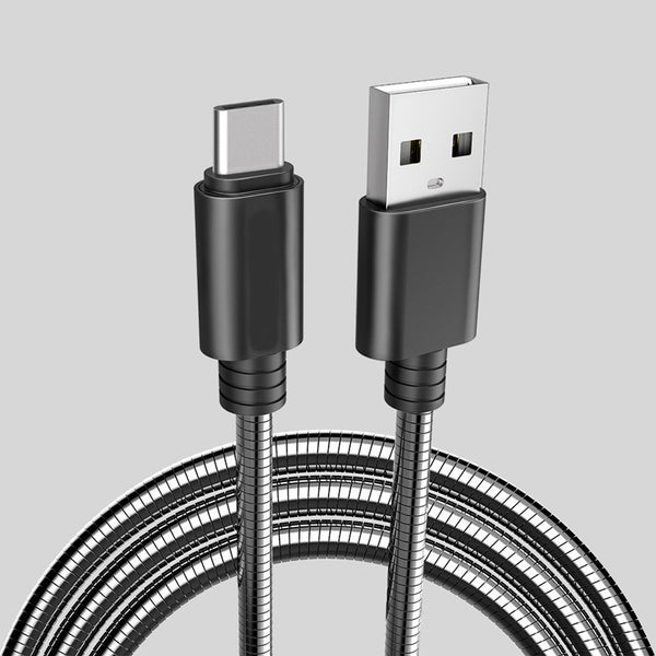 axGear USB-C to USB 3.0 Cable Type-C Charging USB 3.1 Data Sync Wire Stainless Steel Chargr Cord 3Ft 1M
