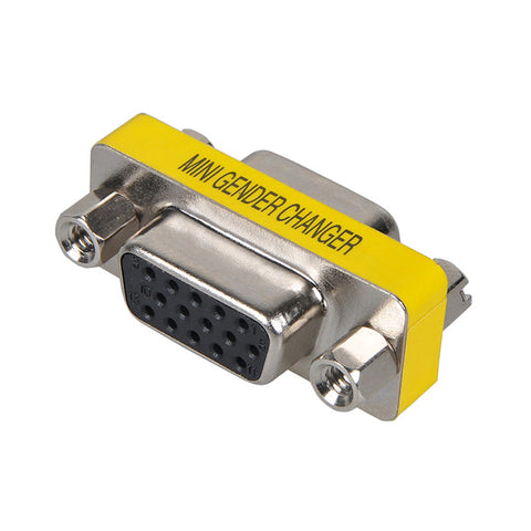 VGA SVGA 15 Pin Female to Female F/F Mini Gender Changer Adapter Connector