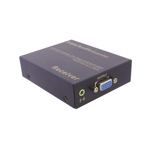 axGear VGA Over CAT5e Extender VGA Through RJ45 Cat6 Network Extension With Audio up to 1000Ft 300M