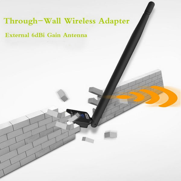 axGear USB Wireless N Network Adapter Cordless Ethernet Network WiFi Card 150Mbps w/ 6 dbi Antenna