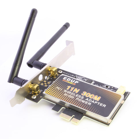 axGear Wireless PCI-E Network Card Cordless N 300M WiFi PCI Express Adapter w/ 2 Antennas