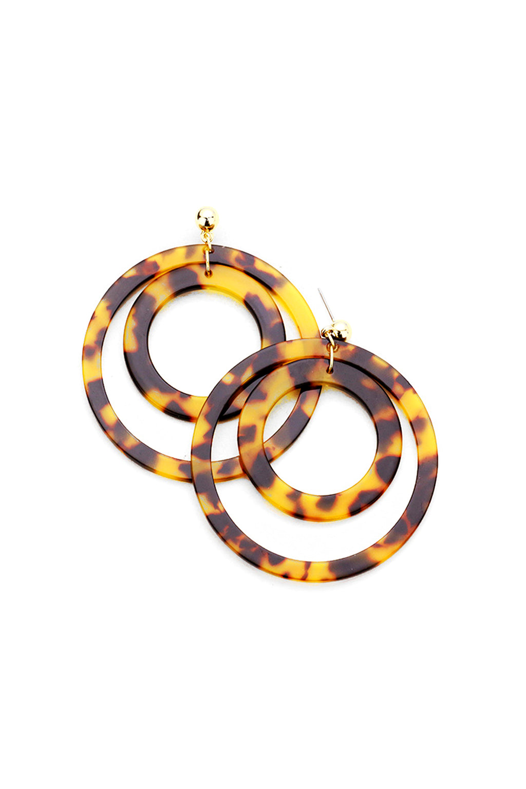 Vision Earrings | Tortoise Shell