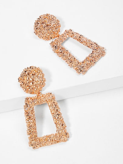Flake Earrings | Rose Gold