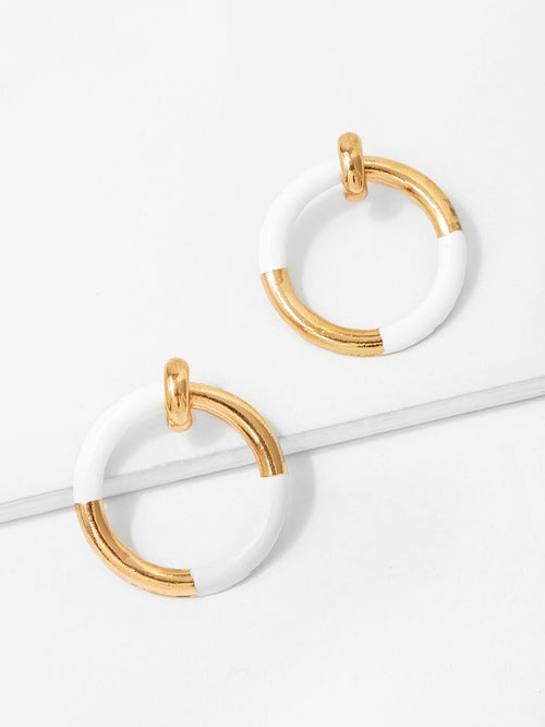 Two•The•Tone Earrings