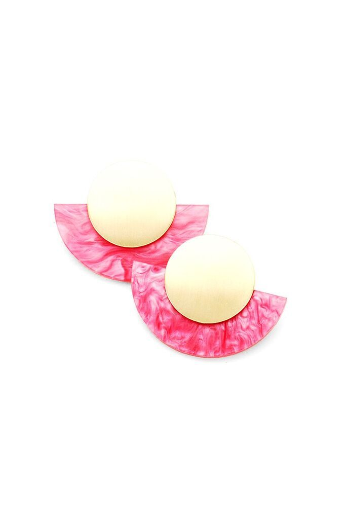 Fan Me Earrings | Fuchsia