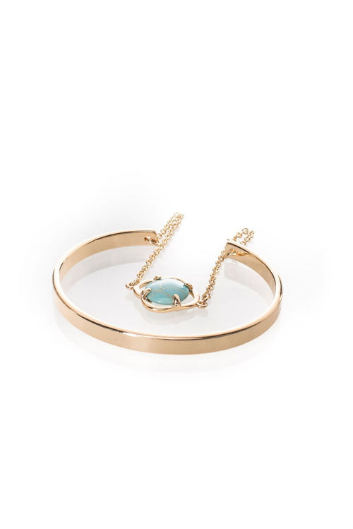 Alfie Bangle | Turquoise Stone