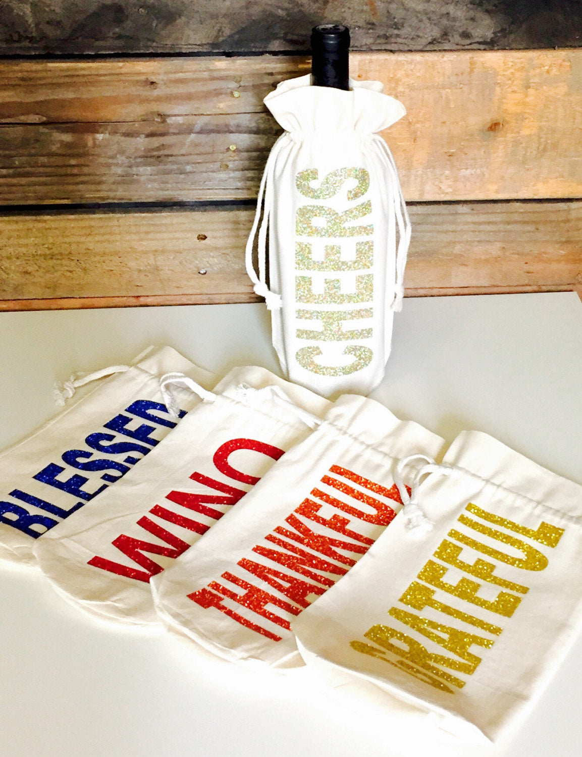 Wine Totes 5 for 20   Wine Gift Bags   Thanksgiving and Christmas ...