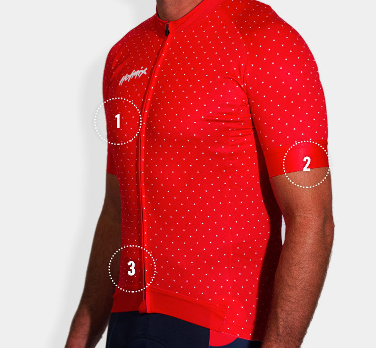Dem Dots Tiny Men's Cycling Jersey Features