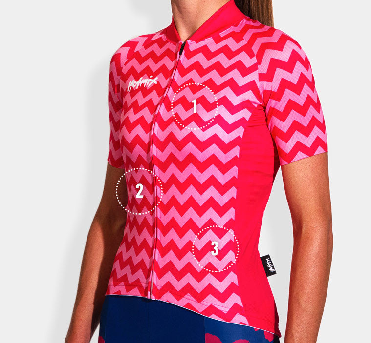 Pink Chevy Women's Cycling Jersey Features