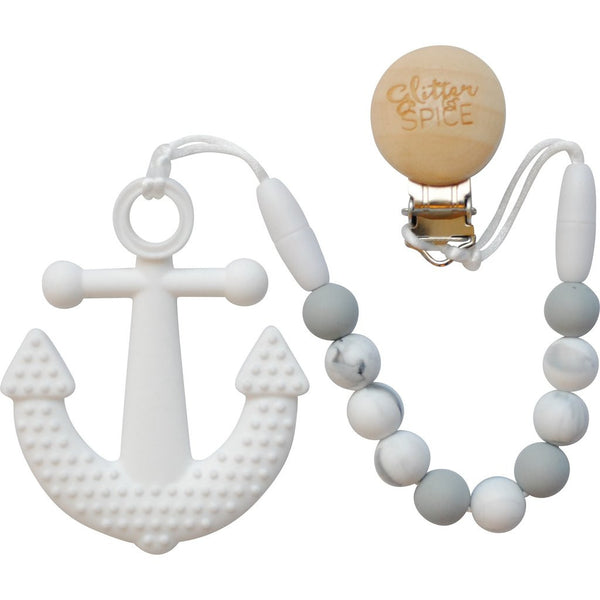 Anchor Teether - Luna Grey