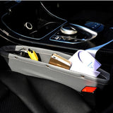 Leather High Quality 2PCS Car Seat Gap Pocket Catcher Organizer