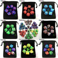 Top Quality 7pcs 2-color Dice Set With Nebula Effect
