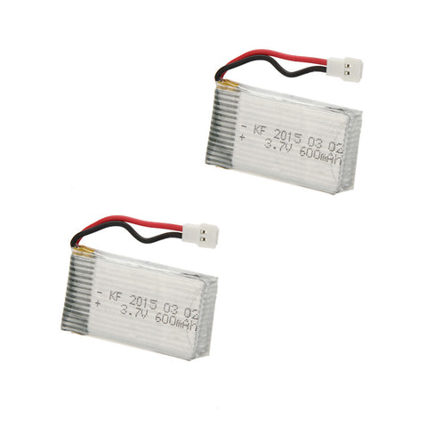 2 Pcs Upgrade High Power 3.7V 600mAh Helicopter Lipo Battery for SYMA X5C X5C-1 X5 JJRC H5C RC Quadcopter
