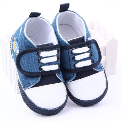 0-1 Year   Baby Infant Toddler Boy Shoes Canvas Shoes Soft Sole Prewalker