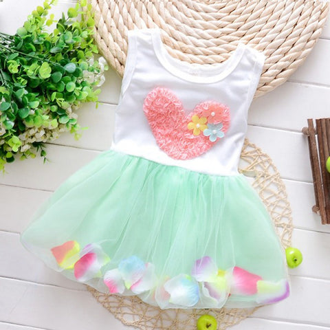 0-4Y Baby Kids Girls Dress Sleeveless Toddler Princess Party Tutu  Casual Floral Dress