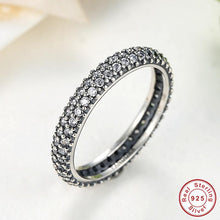 925 Sterling Silver Inspiration Within Stackable Ring Clear CZ Crystal Compatible With VRC Jewelry Christma A7128