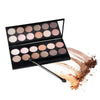 12 Colors Professional Makeup Smoky Eye Shadow Palette Glitter Shimmer Neutral Nude Cometics LZH7