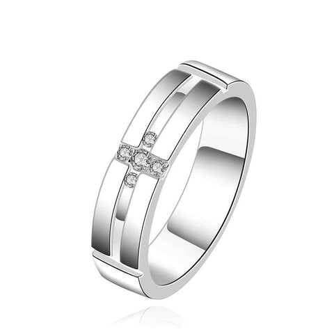 silver plated ring fashion jewelrya coel mean ring SMTR560