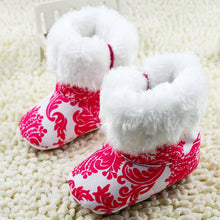 Super Warm  Baby Ankle Snow Boots Infant Shoes Red Antiskid Keep Warm Baby Shoes First Walkers