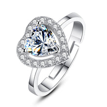18K Platinum Plated Heart shape Ring with AAA Cubic Zircon Wedding Anniversary Valentine's  R041