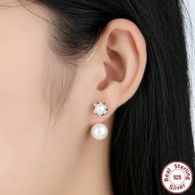 Authentic 925 Sterling Silver Pearls Special Style Female Earrings Dangle Earrings Jewelry CCE002