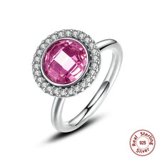 925-Sterling-Silver Brilliant Legacy Stackable Ring Pink & Clear CZ Ring Compatible with VRC Jewelry A7150