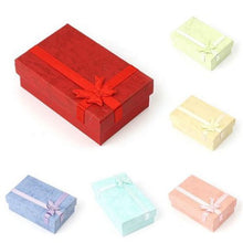 24Pcs Paper Square Bowknot Ring Earring Necklace Jewelry Gift Box Case Display A85