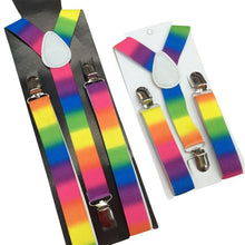 2Pcs Colorful Boy  Y-Back Suspenders Child Elastic Adjustable Clip-On Braces