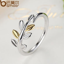Laurel Leaves Finger Ring with 14K Gold Leaves Pan Jewelry