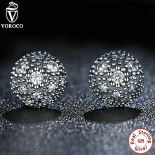 925 Sterling Silver My Princess Tiara, Clear CZ Heart Crown Women Wedding Stud Earrings Compatible With VRC Jewelry PS450