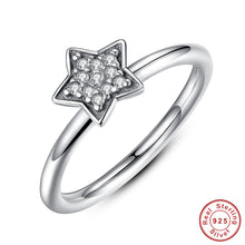 Authentic 925 Sterling Silver Crystals Simple Star Clear CZ Compatible with VRC Jewelry Christmas  A7127