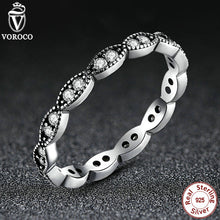 Authentic 925 Sterling Silver Leaves Stackable Ring Clear Cubic Zirconia Original Jewelry A7120