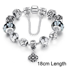 Authentic 925 Silver Round Charm Bracelet with Safety Chain for Women Original Jewelry A1850