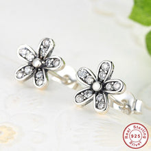 Authentic 925 Sterling Silver Dazzling Daisy Jewelry Sets Stud Earrings & Ring With Clear CZ Jewelry Special Store