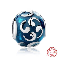 Authentic 925 Sterling Silver TURQUOISE COMMA Charm Fit Pandora Original Bracelet Necklace DIY Jewelry S093