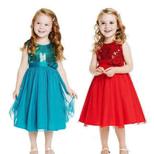 Baby Princess Kids Girls Christmas Fancy Flower Party Gown Formal Dress 2-7Y D33