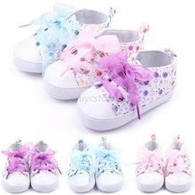 Baby Shoes Girls Cotton Floral Infant Soft Sole Baby First Walker Toddler Shoes 0-12 Months
