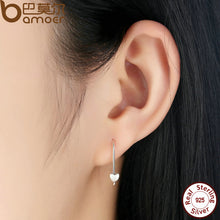 Classic Earrings 925 Sterling Silver Heart Classic Earrings Jewelry for Women Fashion Jewelry Femme Brincos S468