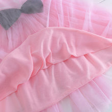 Cute Lace Bow Ball Gown Party Dresses Cartoon Cat  Girl Sleeveless Dresses Tulle Girl Dress