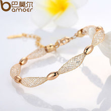 Fashion 18K Rose Gold Plated Charm Bracelet & Bangles for Women Luxury Jewelry JSB017