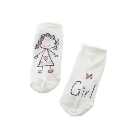 Soft Baby Socks 1 Pair Unisex born Baby Girls Boys Hand Printed Cotton Socks Kids Child meias infantil