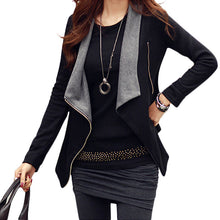 Korean Zipper Slim Casual Long Sleeve Jacket Outwear Coat 3 Colors S-XLHG