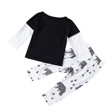 Fasion Infant Baby Boys Clothing Sets Cotton Letter Printed Long Sleeve 2pcs Children Outfits